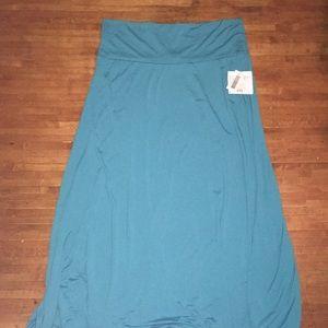 Blue Lularoe 2x maxi skirt, BNWT